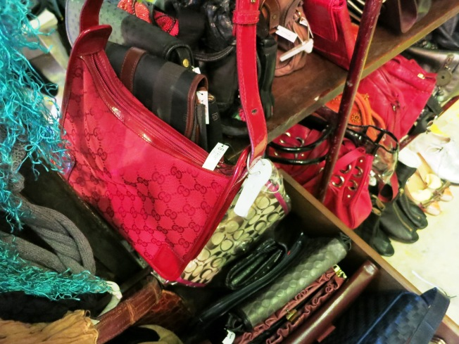 Across the herbal jelly store is a vintage store that sells second hand designer bags, among others.