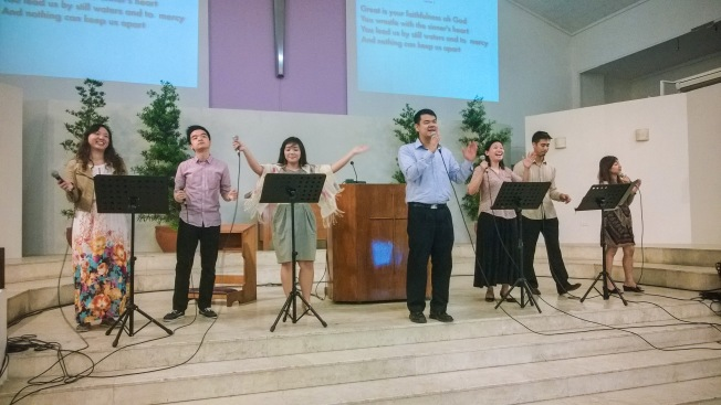 Praise and worship led by Pastor Nehemiah Sia