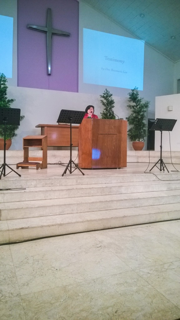 Sharing of Testimony from Dr. Rosemarie Lim