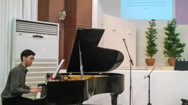 Bro. Justin Yturzaeta playing the response song