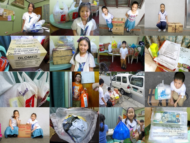 students of Rhyme Lab Learning Center and some of our friends donated relief goods for the Yolanda victims