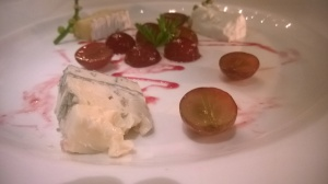 Chevre, Caprice de Dieux and Gorgonzola with grapes