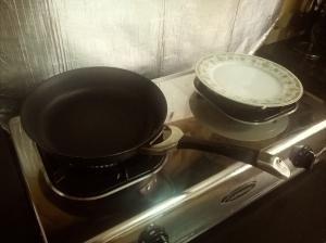 prepared the non-stick pan