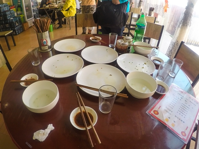 At the end of the meal. Guess who consumed most number of dumplings?